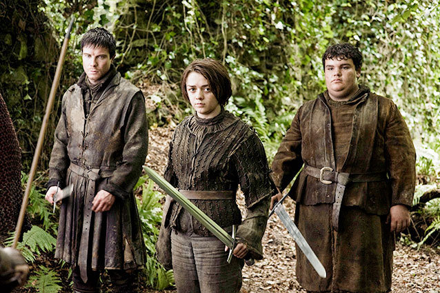 Arya Gendry and Hot Pie