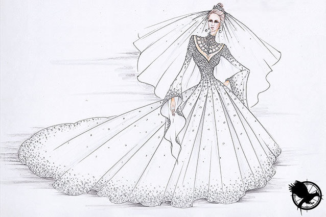 Hunger Games Katniss Wedding Dress sketch