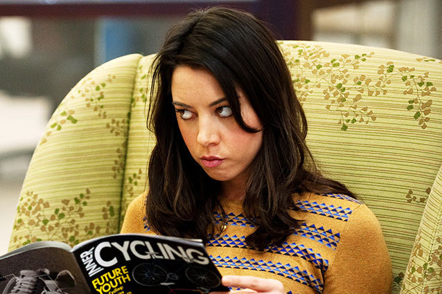 April Ludgate Disapproves of Aubrey Plaza at MTV Awards