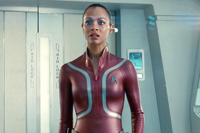 Zoe Saldana's Uhura Wears a Slinky Catsuit in Star Trek Into Darkness