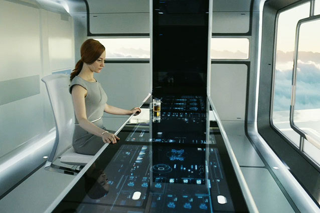 Oblivion Rips Off Minority Report By Giving Andrea Riseborough a Touchpad Computer Console