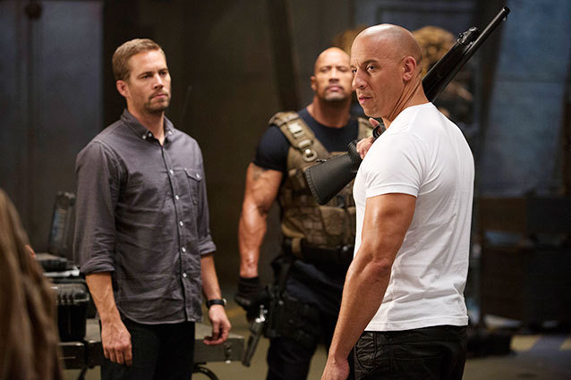 Paul Walker, The Rock and Vin Diesel