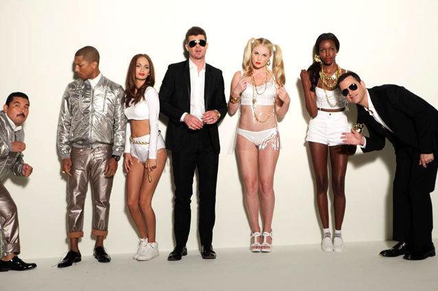 Robin Thicke Pharrell Blurred Lines
