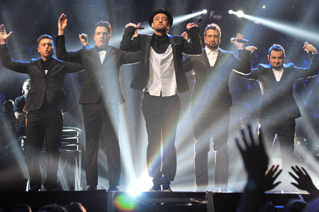 'N Sync  performs during the 2013 MTV Video Music Awards