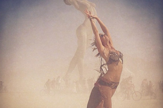 Stacy Keibler at Burning Man
