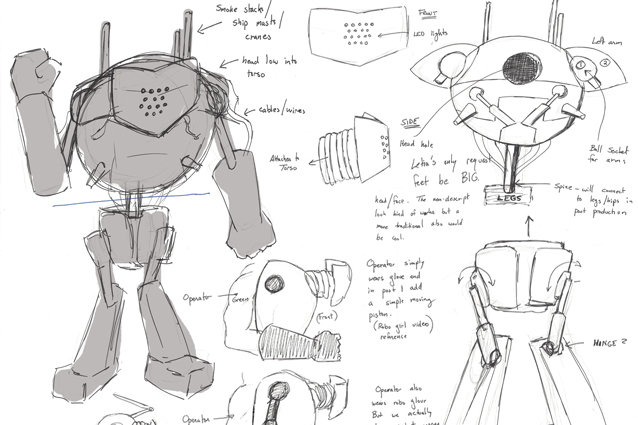 Sketches of the robot