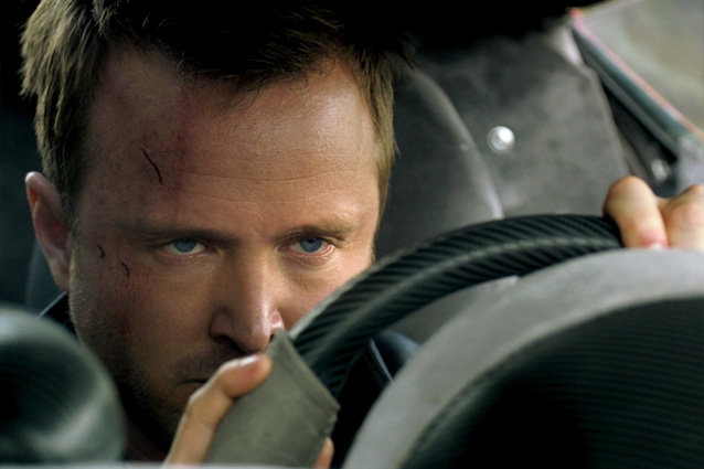 Tobey Marshall (Aaron Paul) is an ex-prisoner who joins a cross country race for revenge in 'Need For Speed', based on the video game with the same name. Also with Dakota Johnson, Michael Keaton, and Imogen Poots.