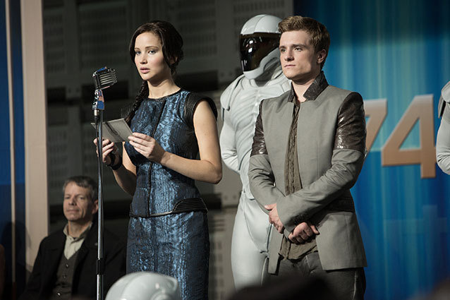 Still Image of Catniss Everdeen and Peeta Mellark from Hunger Games: Catching Fire