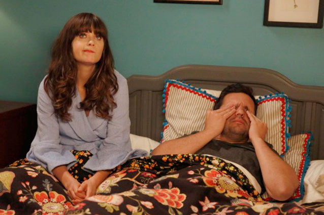 "New Girl TV Still, Zooey Deschanel, Jake Johnson (Season 3 Episode 4 ""The Captain"")"