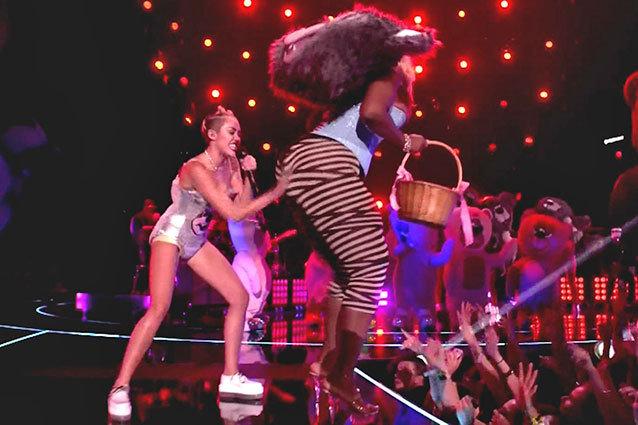 Miley Cyrus performing at this year's AMAs