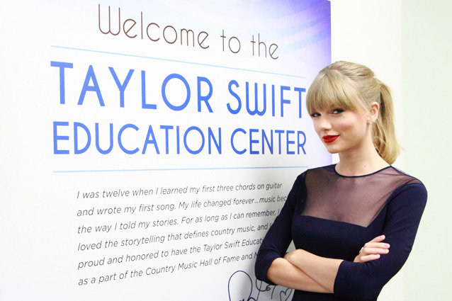 Taylor Swift officially opens the Taylor Swift Education Center at the Country Music Hall of Fame and Museum on October 12, 2013 in Nashville