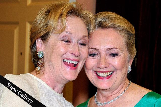 Hillary Clinton, Meryl Streep selfie