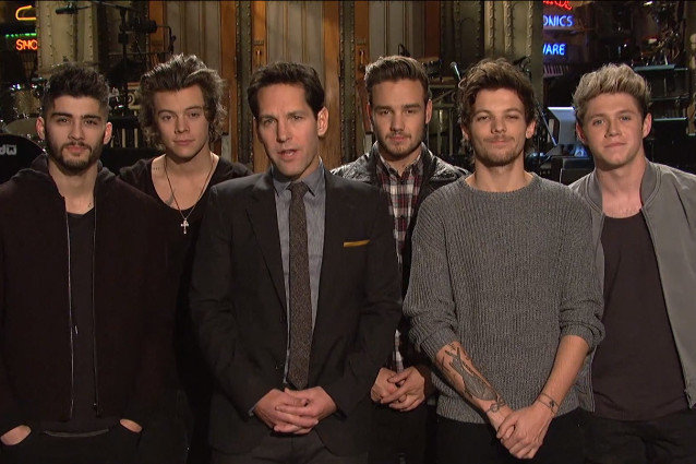 One Direction, Paul Rudd, Saturday Night Live