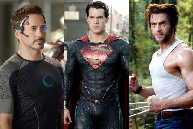 Iron Man, Superman, Wolverine