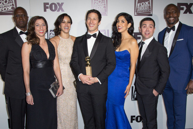 Brooklyn Nine-Nine cast at Golden Globes