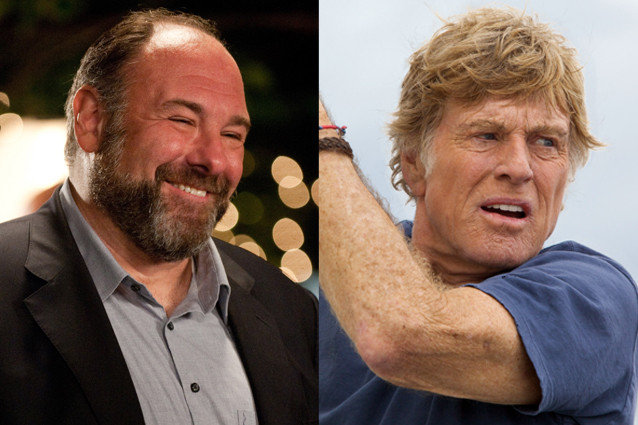 James Gandolfini and Robert Redford