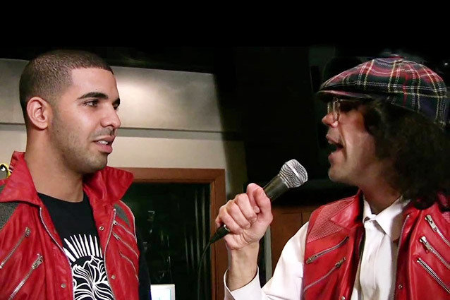 Nardwuar vs. Drake, Interview