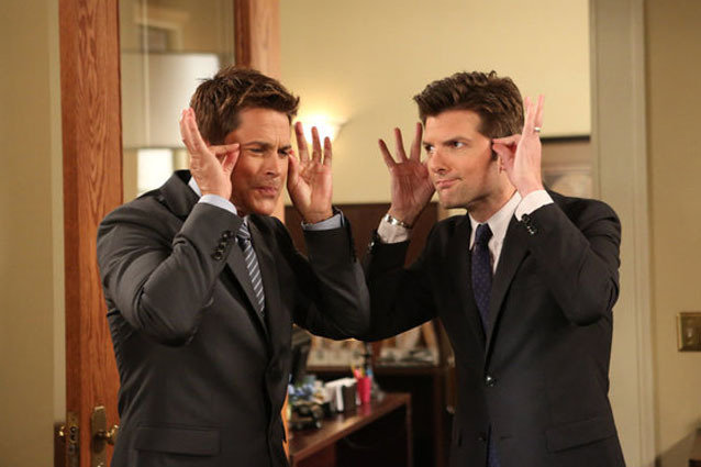 Parks and Recreation, Adam Scott and Rob Lowe
