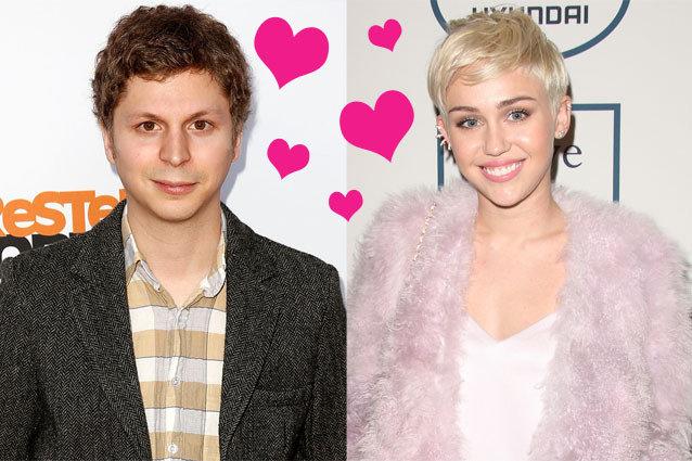 Michael Cera and Miley Cyrus