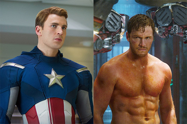 Chris Evans and Chris Pratt