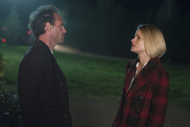 "JUSTIFIED -- ""Restitution"" -- Episode 513 (Airs Tuesday, April 8, 10:00 pm e/p -- Pictured: (L-R) Walton Gogins as Boyd Crowder, Joelle Carter as Ava Crowder -- CR: Prashant Gupta/FX"