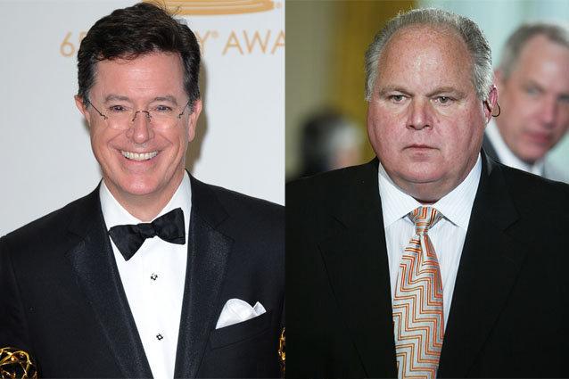 Stephen Colbert and Rush Limbaugh