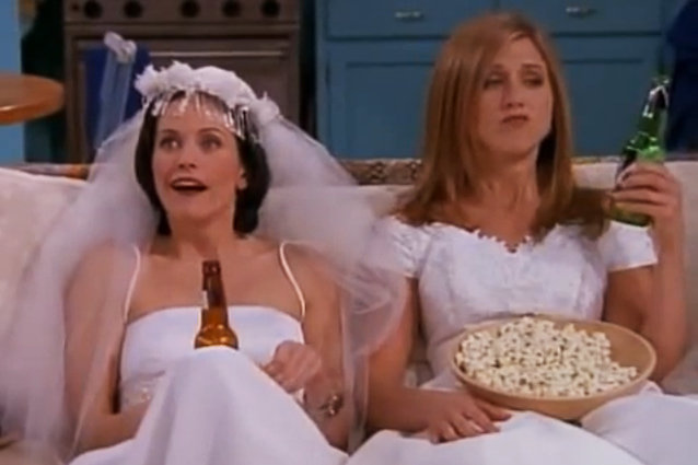 Courteney Cox and Jennifer Aniston, Friends