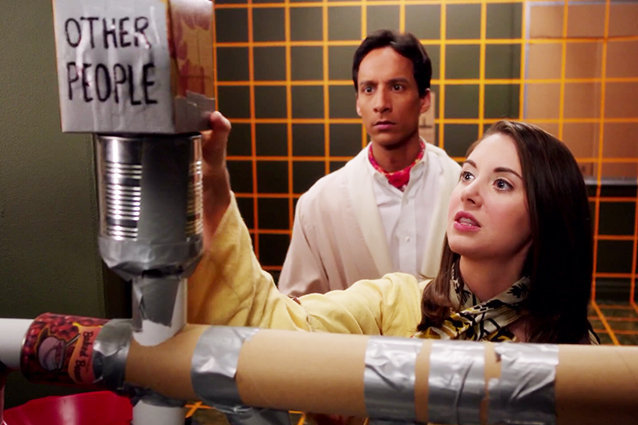 Danny Pudi and Alison Brie, Community