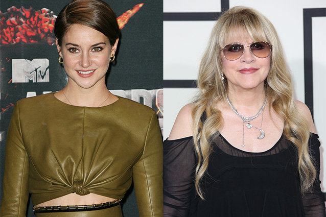 Shailene Woodley and Stevie Nicks