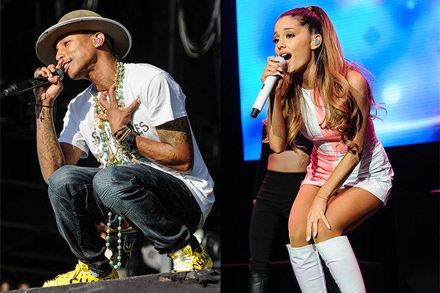 Pharrell Williams and Ariana Grande