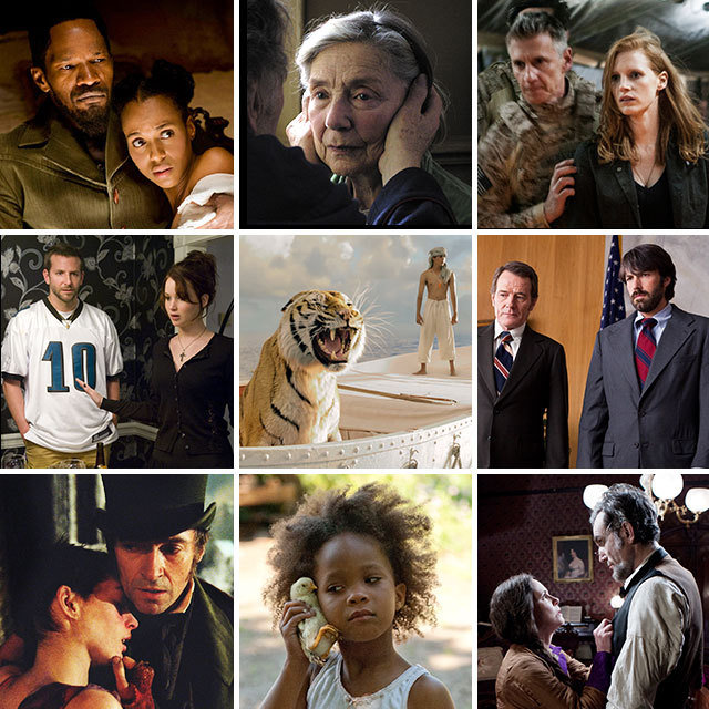 Nine Best Pic nominees