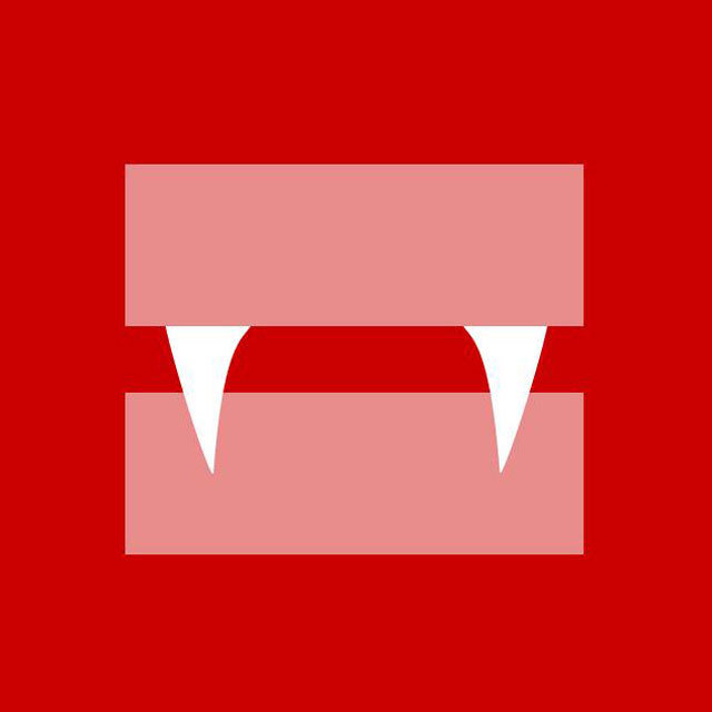 True Blood's Vampire Fangs on the equality symbol
