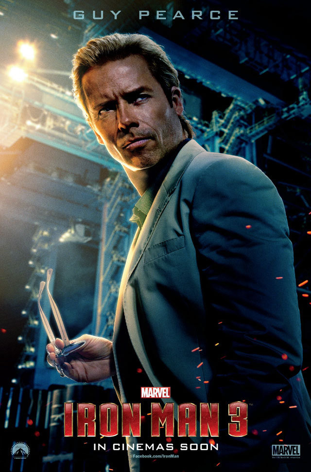 Iron Man 3 Guy Pearce Poster