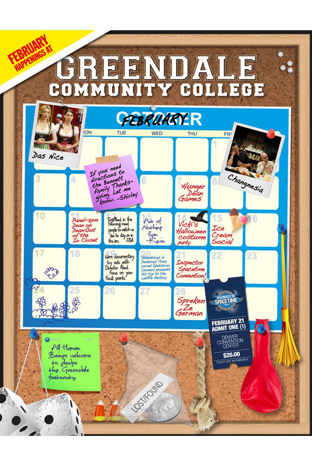 Greendale Calendar Community Preview