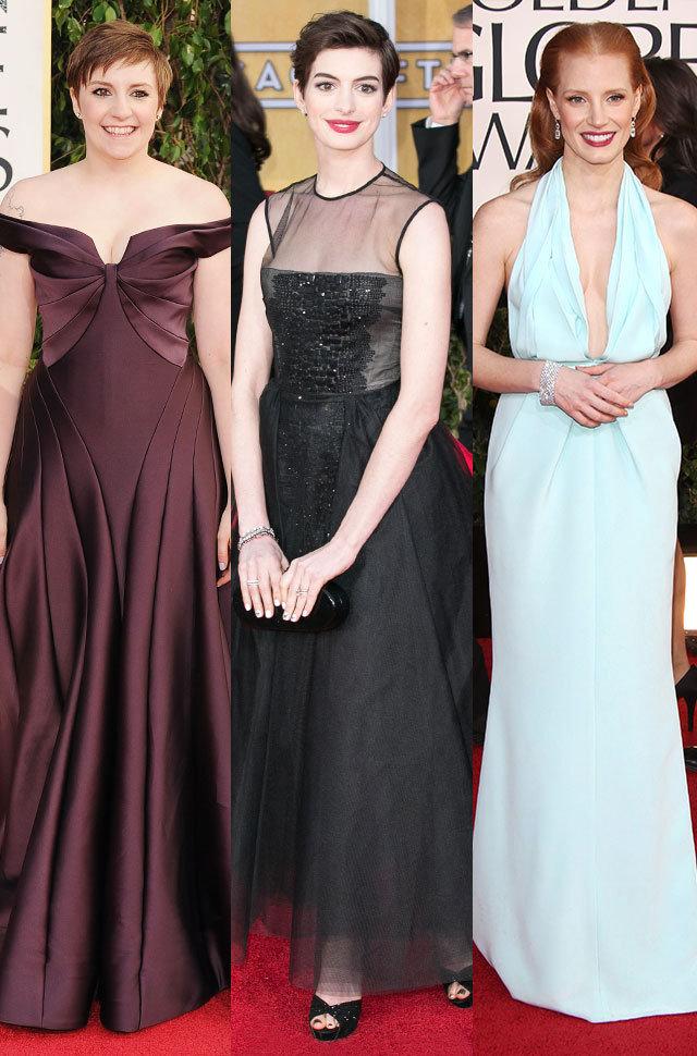 Lena Dunham/Anne Hathaway/Jessica Chastain