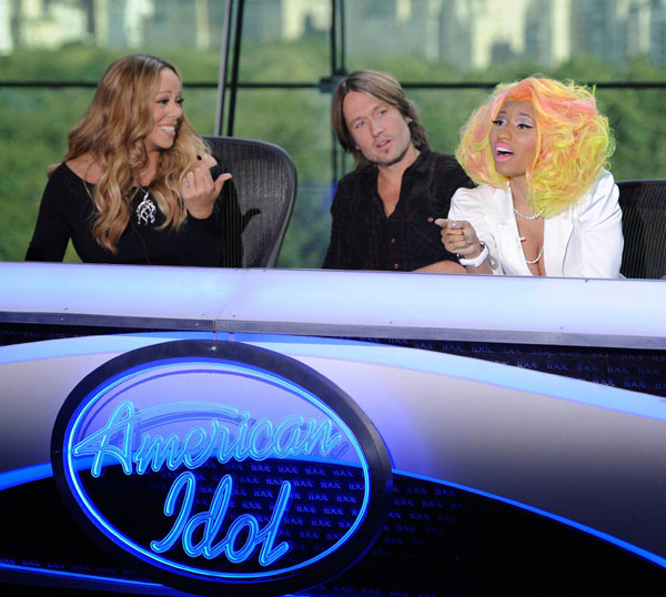 Nicki Minaj and Mariah Carey at the New York 'American Idol' auditions