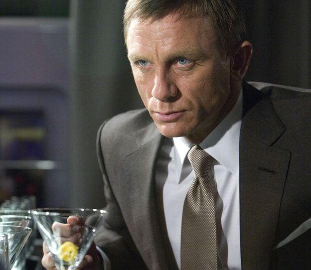 James Bond with a Martini
