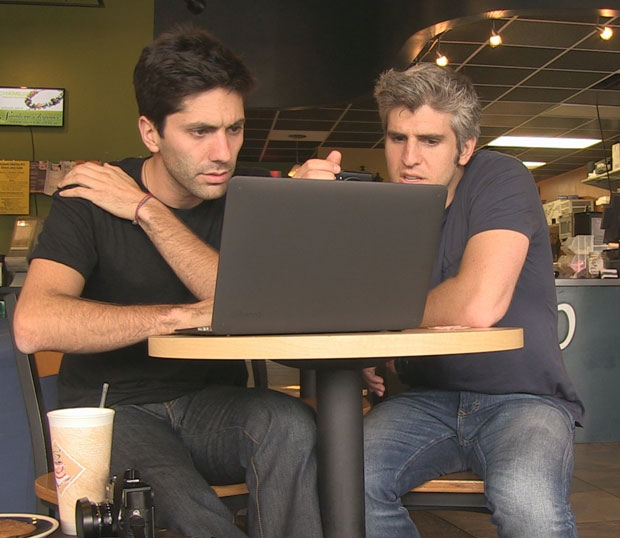 Nev and Max search for clues on Catfish