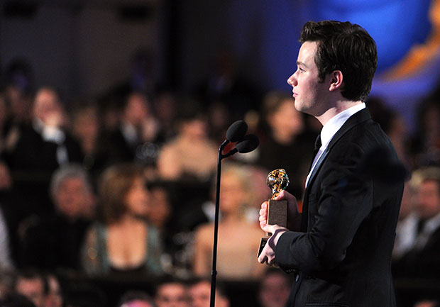 Chris Colfer Glee Golden Globes acceptance speech