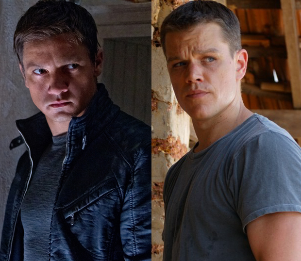 Jeremy Renner's Aaron Cross and Matt Damon's Jason Bourne