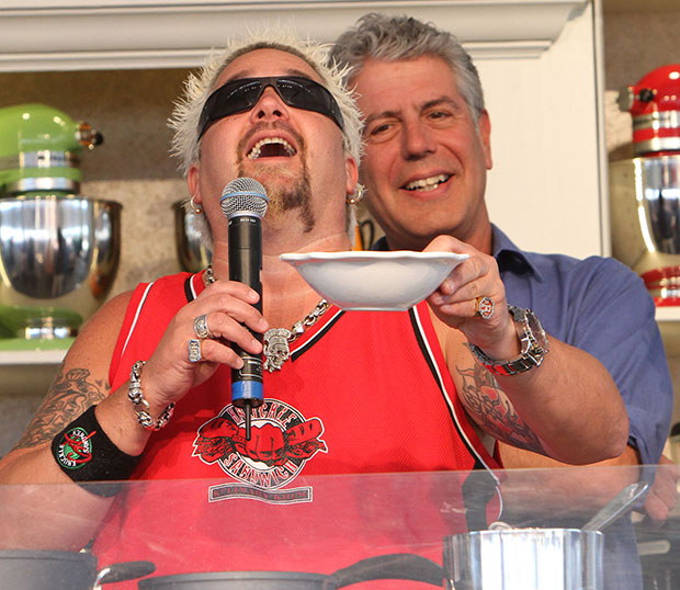 Anthony Bourdain Guy Fieri