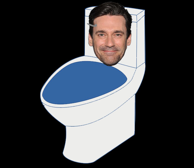 Jon Hamm as a toilet