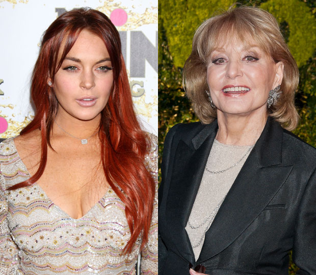 Lindsay Lohan Barbara Walters
