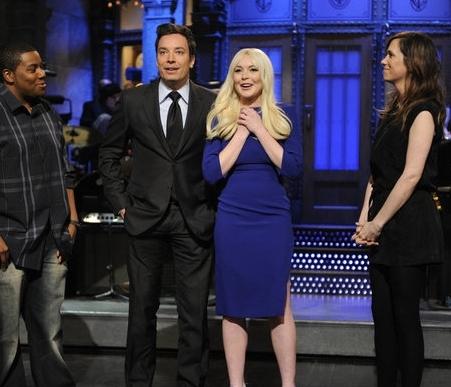 Lindsay Lohan Jimmy Fallon SNL