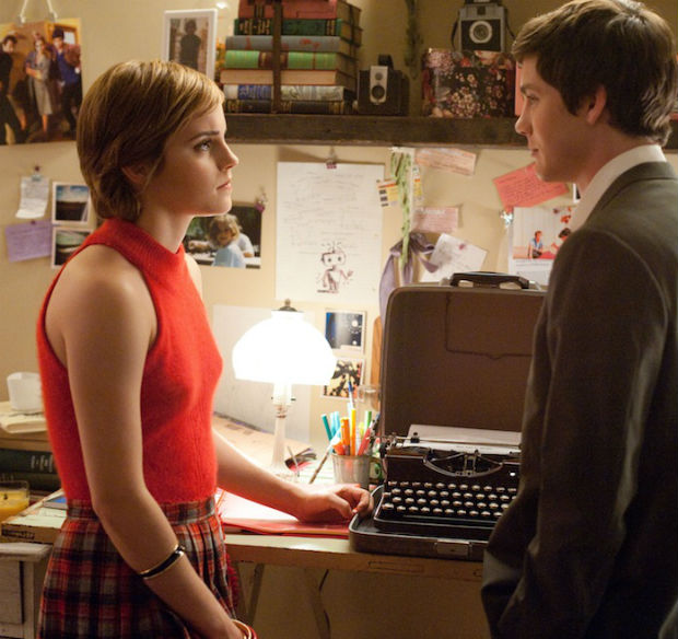 Emma Watson Logan Lerman Set Interview Perks of Being a Wallflower