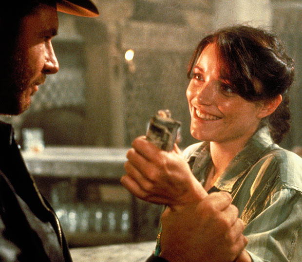 Marion Ravenwood And Indiana Jones in Raiders of the Lost Ark