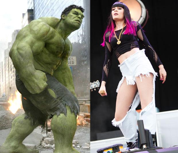 jessie j, the hulk