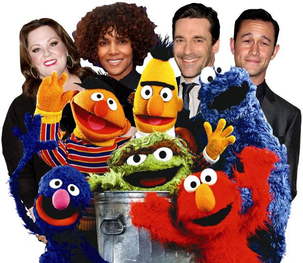 Jon Hamm, Melissa McCarthy, Halle Berry, Joseph Gordon-Levitt, Sesame Street