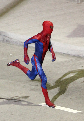 Spider Man set photos