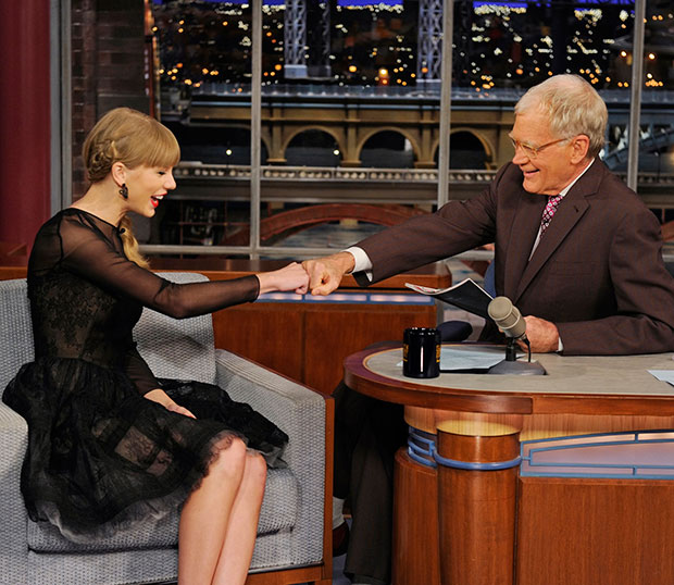 taylor swift letterman